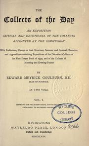 Collects of the Day, Volume 1 by Edward Goulburn