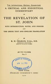 Commentary on Revelation by Henry Barclay Swete